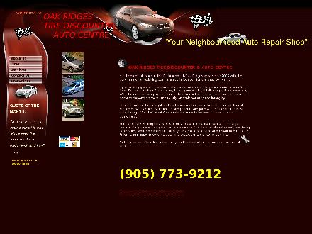 Oak Ridges Tire And Auto Centre (289-210-0116) - Onglet de site Web - http://www.oakridgestire.com