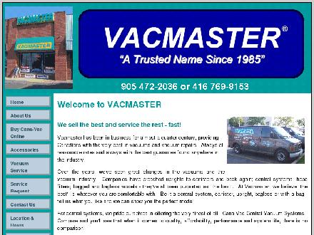 Vacmaster (905-472-2036) - Website thumbnail - http://www.the-vacmaster.ca