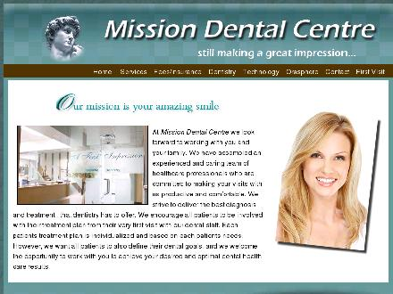 Mission Dental Centre (403-571-0035) - Onglet de site Web - http://www.missiondentalcentre.ca