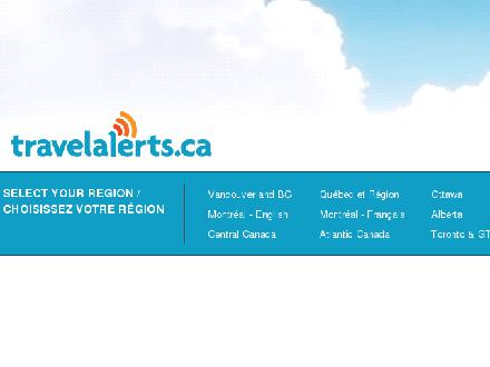 Travelalerts.ca - Website thumbnail - http://www.travelalerts.ca