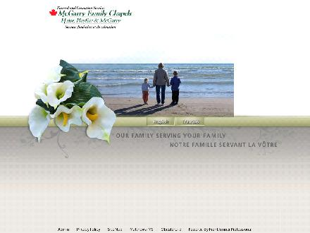 Hulse Playfair &amp; McGarry Funeral Directors (613-604-0309) - Onglet de site Web - http://www.mcgarryfamily.ca