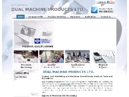 Dual Machine Products Ltd (905-890-0365) - Website thumbnail - http://www.dualmachine.com