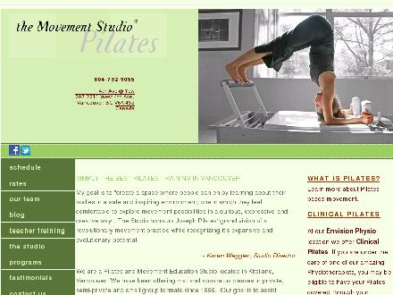 Movement Studio Pilates & Gyrotonic Inc The (604-732-9055) - Onglet de site Web - http://www.themovementstudio.ca