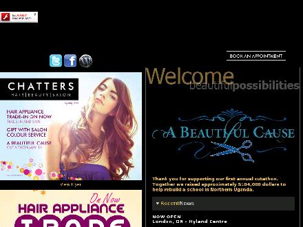Chatters Salon & Beauty Supply Outlet (780-792-0987) - Website thumbnail - http://www.chatters.ca/index.html