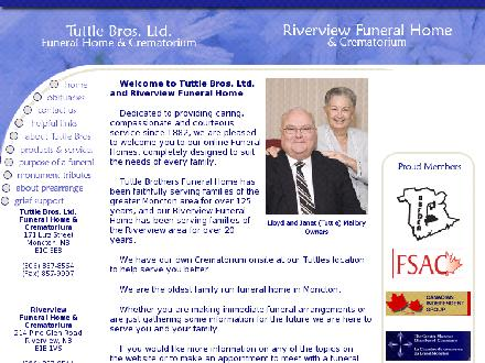Riverview Funeral Home & Crematorium (506-857-9544) - Website thumbnail - http://www.tuttlefuneralhome.ca
