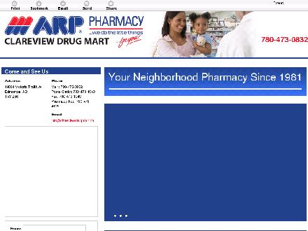Clareview Drug Mart (780-473-0832) - Website thumbnail - http://clareviewdrugmart.ca