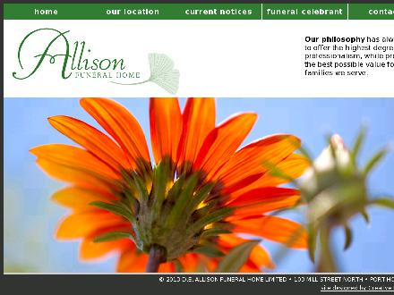 Allison Funeral Home (905-885-5611) - Website thumbnail - http://www.allisonfuneralhome.com/