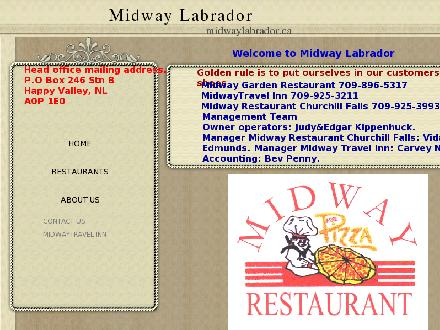 Midway Travel Inn (1-800-229-3269) - Website thumbnail - http://www.midwaylabrador.ca