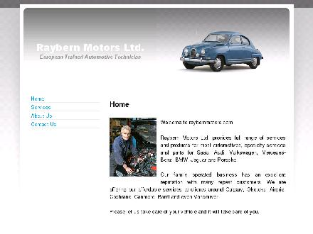 Raybern Motors (403-252-8144) - Website thumbnail - http://www.raybernmotors.com