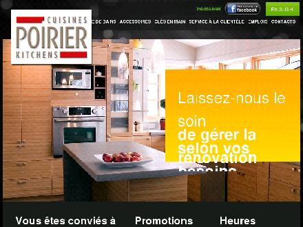 Cuisines Poirier (819-663-8484) - Website thumbnail - http://www.cuisinespoirier.com