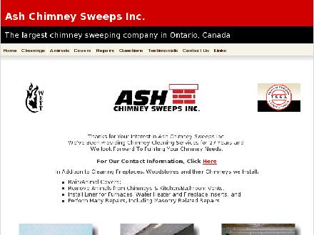 Ash Chimney Sweeps Inc (519-651-9024) - Onglet de site Web - http://www.ashchimneysweeps.com