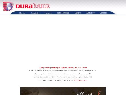 Durabond Products Ltd (1-877-387-2266) - Website thumbnail - http://www.durabond.com
