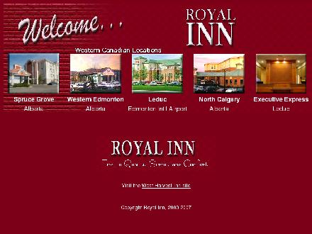 Executive Royal Inn (403-291-2003) - Onglet de site Web - http://www.royalinn.com