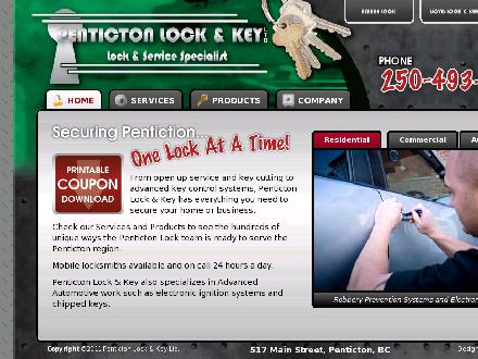 Penticton Lock & Key (2010) Ltd (250-493-3111) - Website thumbnail - http://www.pentictonlock.com