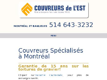 Couvreurs de l'Est (514-643-3232) - Onglet de site Web - http://www.lecouvreur.ca