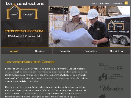 Constructions Isra&euml;l Concept (Les) (418-695-7209) - Website thumbnail - http://www.israelconcept.ca