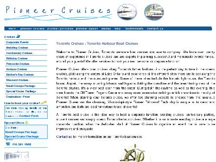 Pioneer Princess & Pioneer Queen Cruises (416-391-1888) - Website thumbnail - http://www.pioneercruises.com