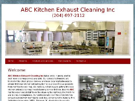 ABC Kitchen Exhaust Cleaning (204-697-2112) - Website thumbnail - http://www.abckitchenexhaustcleaning.com