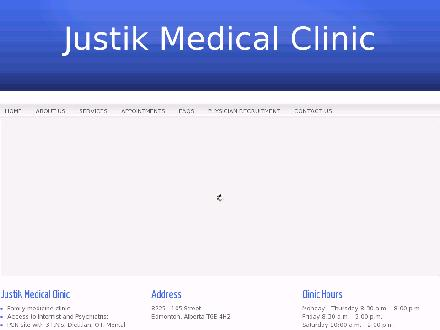 Justik Medical Clinic (780-432-0211) - Website thumbnail - http://www.justikmedical.ca