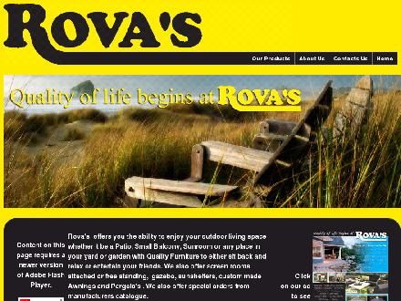 Rova Enterprises (705-876-9707) - Onglet de site Web - http://www.rovapatio.com