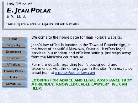 Polak E Jean Law Office (705-645-1421) - Onglet de site Web - http://www.polaklaw.com