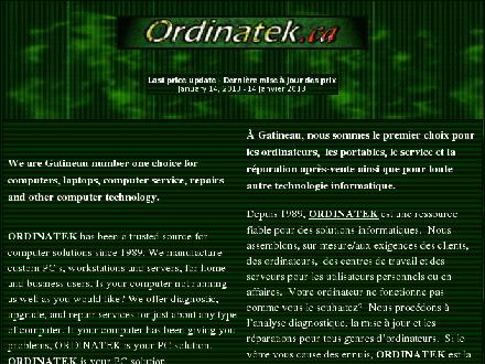Ordinatek Computer (819-561-0595) - Website thumbnail - http://www.ordinatek.ca