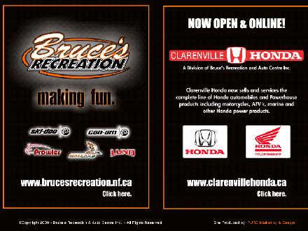 Bruce's Recreation & Auto Centre (709-466-3355) - Website thumbnail - http://www.brucesrecreation.nf.ca