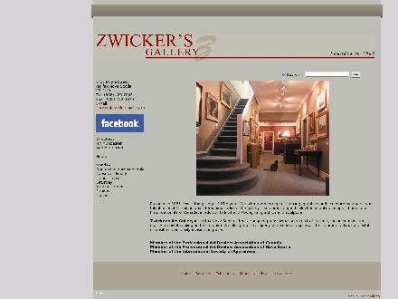 Zwicker's Gallery (902-423-7662) - Onglet de site Web - http://www.zwickersgallery.ca