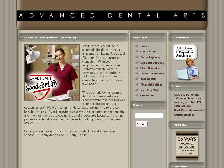 Advanced Dental Arts (204-338-9338) - Website thumbnail - http://www.advanceddentalarts.ca