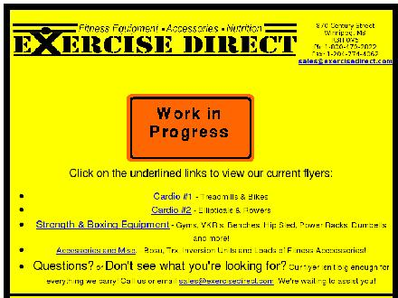 Exercise Direct (204-786-6100) - Website thumbnail - http://www.exercisedirect.com