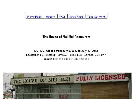 House Of Mei Mei The (902-443-2000) - Website thumbnail - http://www.thehouseofmeimei.webs.com