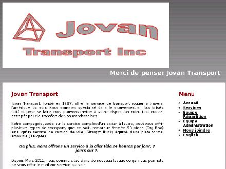 Jovan Transport inc (450-623-7779) - Onglet de site Web - http://jovantransport.com