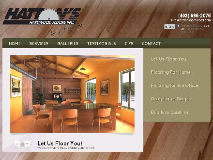 Hatton's Hardwood Floors Inc (403-685-2075) - Website thumbnail - http://www.hattonshardwood.com