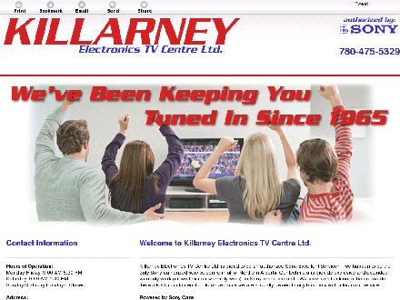 Killarney Electronics TV Centre Ltd (780-475-5329) - Website thumbnail - http://killarney-electronics.com