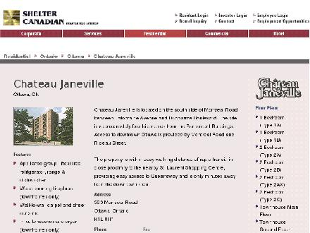 Chateau Janeville (613-744-3771) - Onglet de site Web - http://www.scpl.com/residential_property.asp?id=32