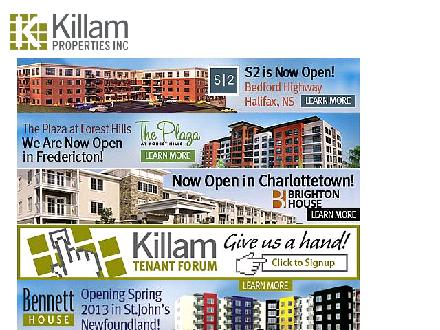 Killam Properties Inc (902-562-5666) - Website thumbnail - http://www.killamproperties.com