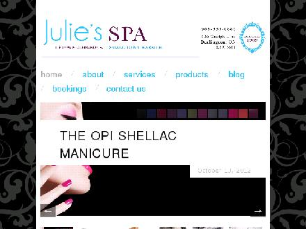 Julie's Spa & Laser Center (905-333-0880) - Onglet de site Web - http://www.julies.ca