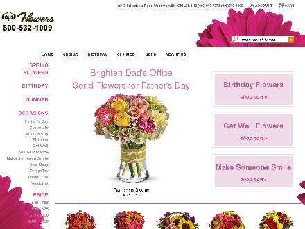 House Of Flowers (289-813-1796) - Website thumbnail - http://www.stadighouseofflowers.com