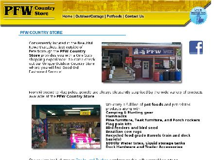 PFW Country Store (705-295-6803) - Website thumbnail - http://www.mycottagestop.com/pfw_main.htm