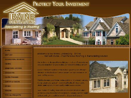 Irvine Contracting Inc (226-499-8290) - Website thumbnail - http://www.irvineroofingkitchener.com