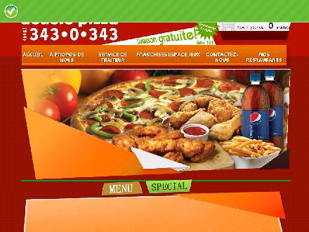 Double Pizza (514-343-0343) - Onglet de site Web - http://www.doublepizza.ca