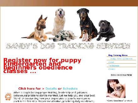 Sandy's Dog Training Services (778-862-9160) - Website thumbnail - http://www.trainmydog.ca