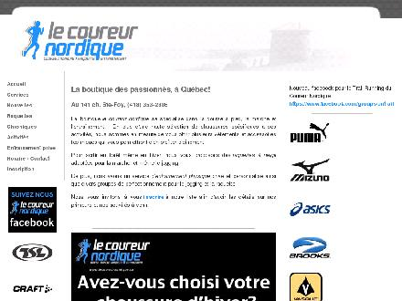Le Coureur Nordique (418-353-2386) - Onglet de site Web - http://www.lecoureurnordique.ca