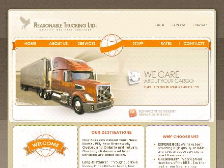 Reasonable Trucking Limited (902-457-1288) - Onglet de site Web - http://www.reasonabletrucking.ca