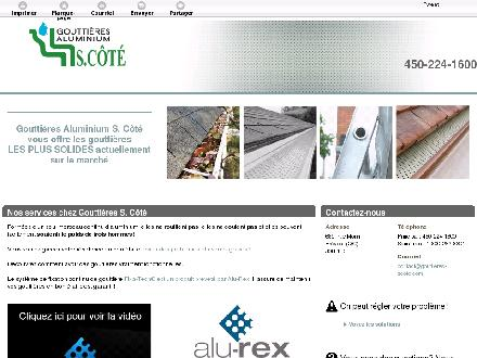 Goutti&egrave;res Aluminium S Cote Inc (450-224-1600) - Website thumbnail - http://www.gouttieres-scote.com