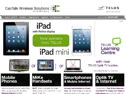 CanTalk Wireless (604-530-4684) - Website thumbnail - http://www.cantalkwireless.ca