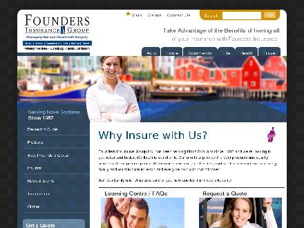Founders Insurance Group Inc (902-468-3529) - Onglet de site Web - http://www.foundersgroup.ca