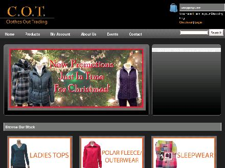 Clothes Out Trading (416-781-2171) - Website thumbnail - http://clothesouttrading.com/