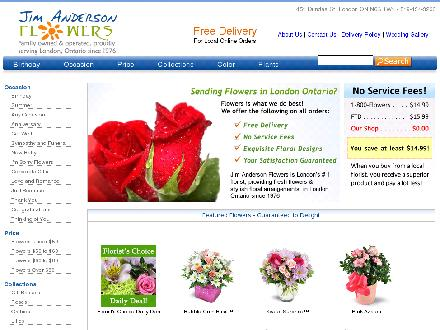 Anderson Jim Flowers Ltd (226-270-2806) - Onglet de site Web - http://www.jimandersonflowers.com