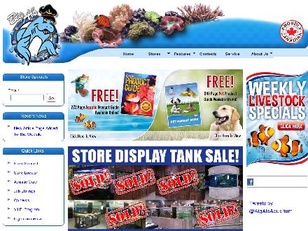 Aquarium Services Warehouse Outlets (613-244-3474) - Onglet de site Web - http://www.aquariumservices.com